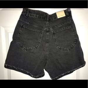 High waisted Mom black denim shorts.
